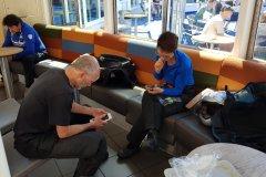 Auf der Fähre, WiFi checken / on the ferry checking WiFi....🤔