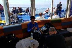 Auf der Fähre, aus der Sonne / on the ferry out of the Sun...