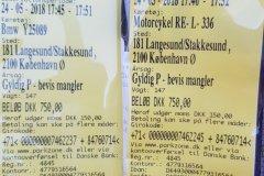So sehen Tickets für falsches Parken in Dänemark aus. Wen es interessiert, 7,5 DKK = 1€ / this is how tickets for for wrong parking look in Dennarkaden, If you are interested, 7,5 DKK = 1€= 1,5 $ CAD