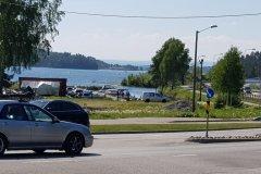 Zweiter Tankstopp in Hønefoss / second gasstop in Hønefoss