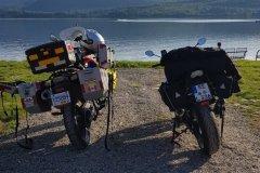 Die Bikes übernachten dort auch / the bikes stay there too.....