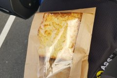 Zweimal Käse-Schinken-Toast zum Frühstück. Lidl hilft./Two ham 'n chesse sandwiches.  Lidl helps.