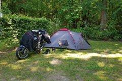 Mein Platz für heute Nacht. / My campground for tonight.