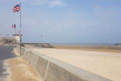 Das erste Mahnmal an der Küste der Normandie in Asnelles./The First Monument at the coast of Normandie, in Asnelles.