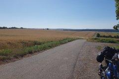 Auf dem Weg, in der Nähe von Harskirchen. / On my way, close to Harskirchen.